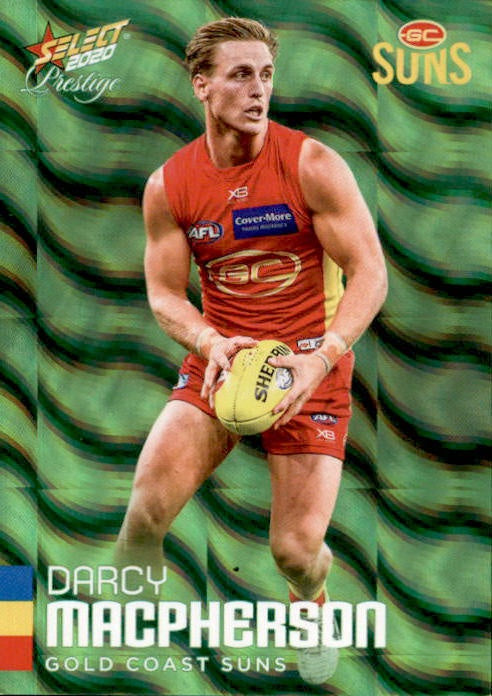 Darcy MacPherson, Green Parallel, 2020 Select AFL PRESTIGE Footy Stars