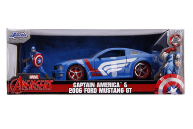 Captain America - 2006 Ford Mustang GT 1:24 Scale Diecast Hollywood Ride