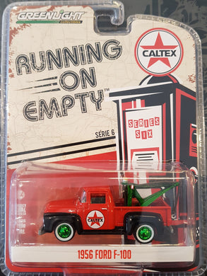 Green Machine Caltex 1956 Ford F-100 with Drop in Tow Hook, 1:64 Diecast Vehicle