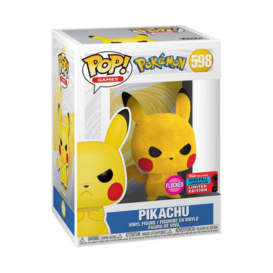 Pokemon - Pikachu Grumpy Flocked NYCC 2020 US Exclusive Pop! Vinyl [RS]