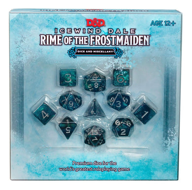 Dungeons and Dragons D&D Icewind Dale: Rime of the Frostmaiden Dice & Miscellany
