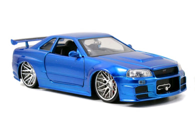 Fast and Furious - '02 Nissan Skyline GT-R R34 1:24 Scale Diecast Vehicle