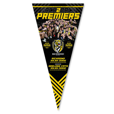 Back to Back 2020 RICHMOND TIGERS PREMIERSHIP TEAM PENNANT