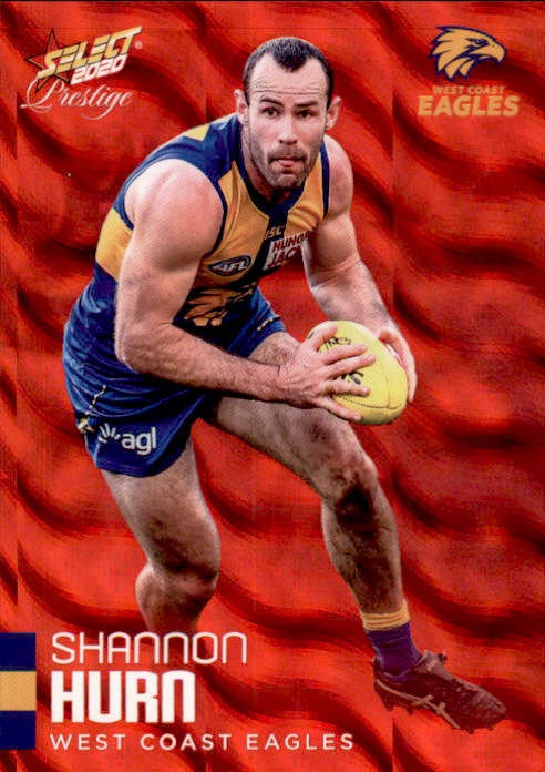 Shannon Hurn, Red Parallel, 2020 Select AFL PRESTIGE Footy Stars