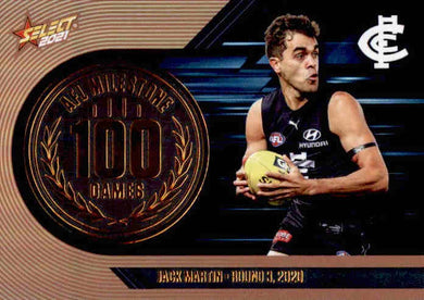 Jack Martin, 100 Games Milestone, 2021 Select AFL Footy Stars