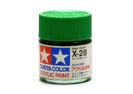 TAMIYA ACRYLIC MINI X-28 PARK GREEN 10ml