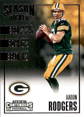 Aaron Rodgers, 2016 Panini Contenders Football NFL