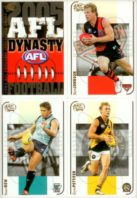2005 Select AFL Dynasty Base Set of 194 cards