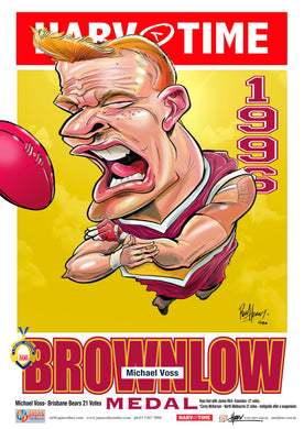 Michael Voss, 1996 Brownlow, Harv Time Poster