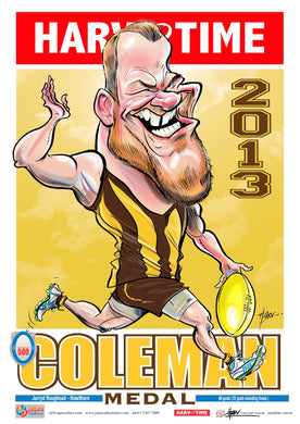 Jarryd Roughead, 2013 Coleman, Harv Time Poster