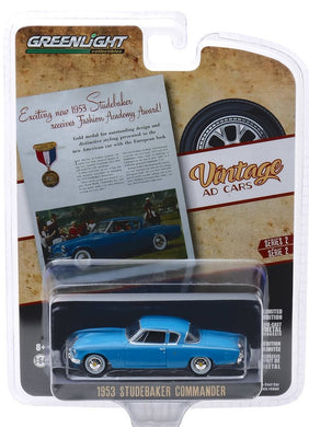 1953 Studebaker Commander, Vintage Ad Cars, 1:64 Diecast Vehicle