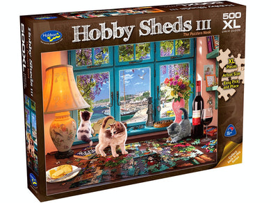 HOBBY SHEDS III, The Puzzlers Nook, 500XL Piece Jigsaw Puzzle