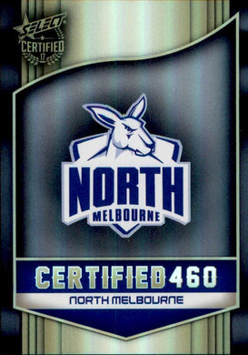 North Melbourne Kangaroos Logo Checklist, Certified 460, 2017 Select AFL Certified