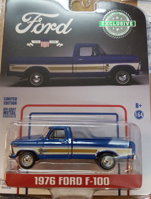 1976 Ford F-100 Bahama Blue, Bicentennial Option Group, 1:64 Diecast Vehicle