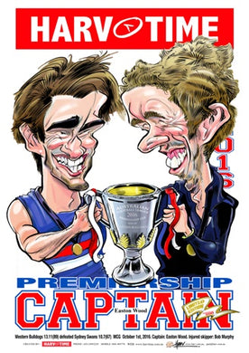 Western Bulldogs, 2016 Premiership Captain Harv Time Poster