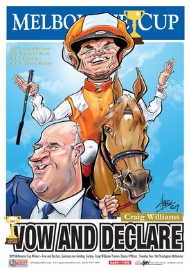 Vow and Declare, 2019 Melbourne Cup, Harv Time Poster