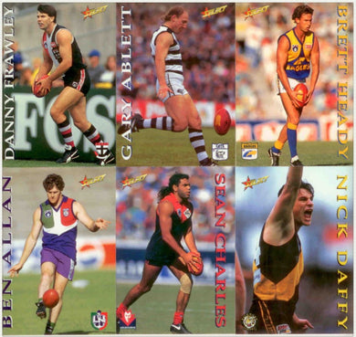1995 Select AFL Series 1 Trading Card Base Set of 250 cards