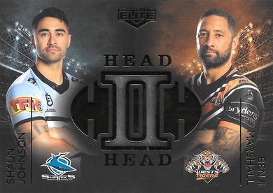 Shaun Johnson, Benji Marshall, Head to Head Case Card, 2020 TLA Elite NRL