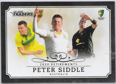 Peter Siddle, Retirements Case Card, 2020-21 TLA Cricket Australia and BBL