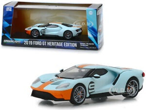 2019 Ford GT Heritage Edition, #9 Gulf Oil, 1:43 Diecast Vehicle