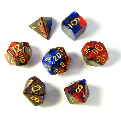 CHX 26429 Gemini Blue-Red/Gold 7-Die Set