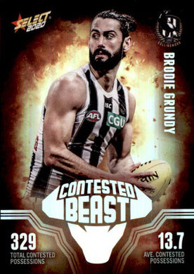 Brodie Grundy, Contested Beasts, 2020 Select AFL Footy Stars