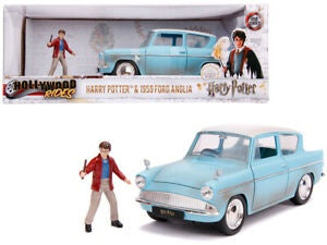 Harry Potter & 1959 Ford Anglia, 1:24 Scale Diecast with Figure