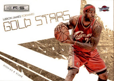 Lebron James, Gold Stars, 2009-10 Panini Rookies & Stars Basketball NBA