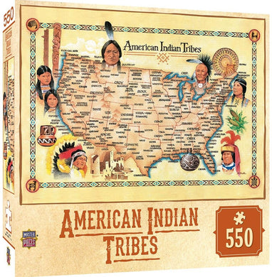 Masterpieces Tribal Spirit American Indian Tribes 550 piece Jigsaw Puzzle