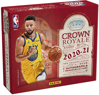 2020-21 Panini NBA Crown Royale Basketball NBA Hobby Box
