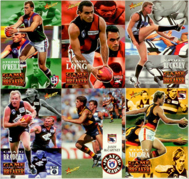 1995 Select AFL Series 2 Trading Card Base Set of 200 cards