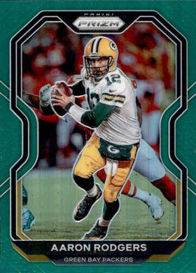 Aaron Rodgers, Green Prizm, 2020 Panini Prizm Football NFL