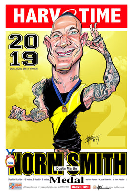 Dustin Martin, 2019 Norm Smith Harv Time Poster