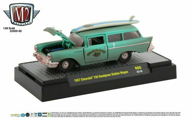 1957 Chevrolet 150 Handyman Station Wagon, Maui & Sons, M2 Machines, 1:64 Diecast Vehicle