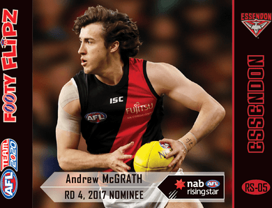 Andrew McGrath, Aaron Francis, Footy Flipz Rising Star, 2020 Teamcoach AFL