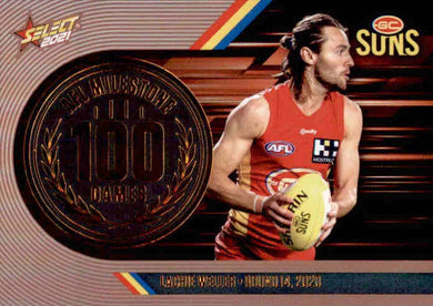 Lachie Weller, 100 Games Milestone, 2021 Select AFL Footy Stars
