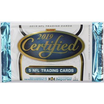 2019 Panini Certified Football NFL Pack
