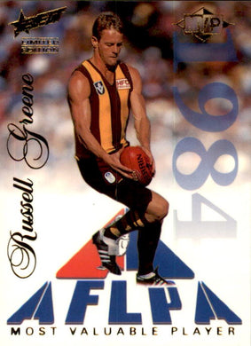Russell Greene, MVP, 1995 Select Limited Edition AFL Sensation