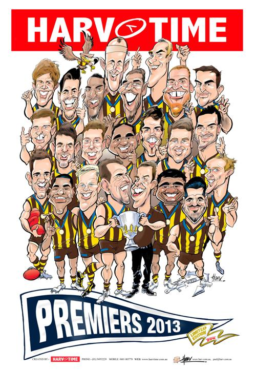 Hawthorn Hawks, Players, 2013 Premiers, Harv Time Poster