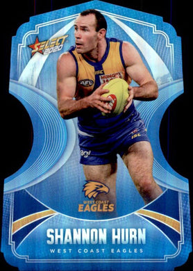 Shannon Hurn, Ice Blue Diecuts, 2020 Select AFL Footy Stars