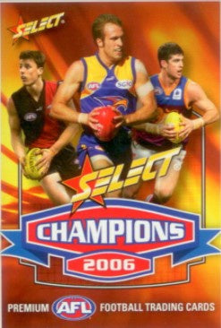 2006 Select AFL Champions Trading Card Base Set of 162 cards