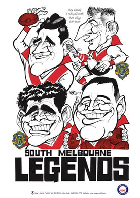WEG South Melbourne Legends Poster
