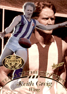 Keith Greig, Team of the Century, 1996 Select AFL