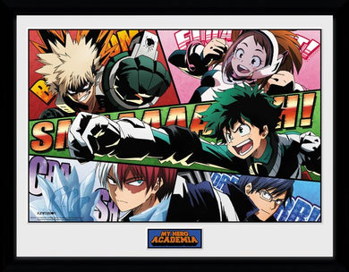 MY HERO ACADEMIA Powers Framed Print