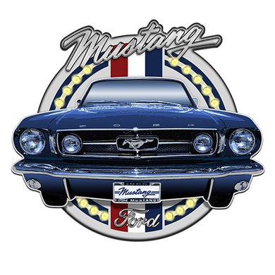 FORD MUSTANG LIGHT UP TIN SIGN