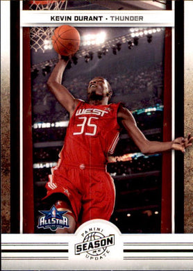 Kevin Durant, Highlights, 2009-10 Panini Season Update NBA Basketball #198