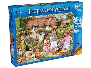 ENGLISH VILLAGE, A Picnic for Bears, 500XL Piece Jigsaw Puzzle