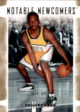 Jeff Green, Notable Newcomers, 2007-08 Fleer Hot Prospects Basketball NBA