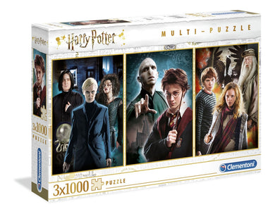 Clementoni Puzzle Harry Potter 3 Pack Puzzle 1000 pieces each