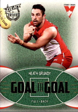 Heath Grundy, Goal to Goal, 2017 Select AFL Certified
